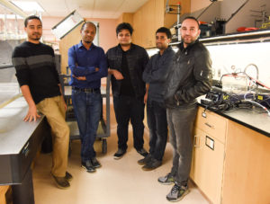 Yonas Demissie and team in lab at WSU Tri Cities