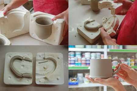 Releasing fresh casts from plaster molds