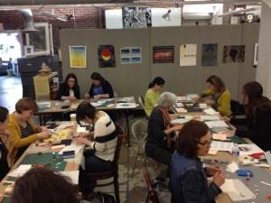 Bookings Librarians making artists books at Pyramid Atlantic