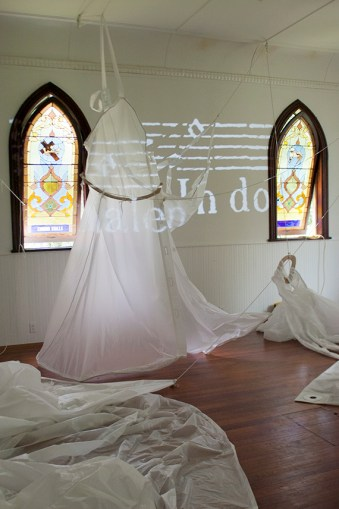 Kate Hamilton's installation at CHRCH Project Space