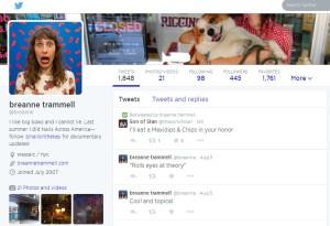 Breanne Trammell's Twitter feed