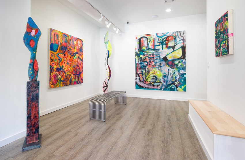 """""""Phosphorescent Plot"""", solo exhibition at One River School Woodbury  by Emily Noelle Lambert"""