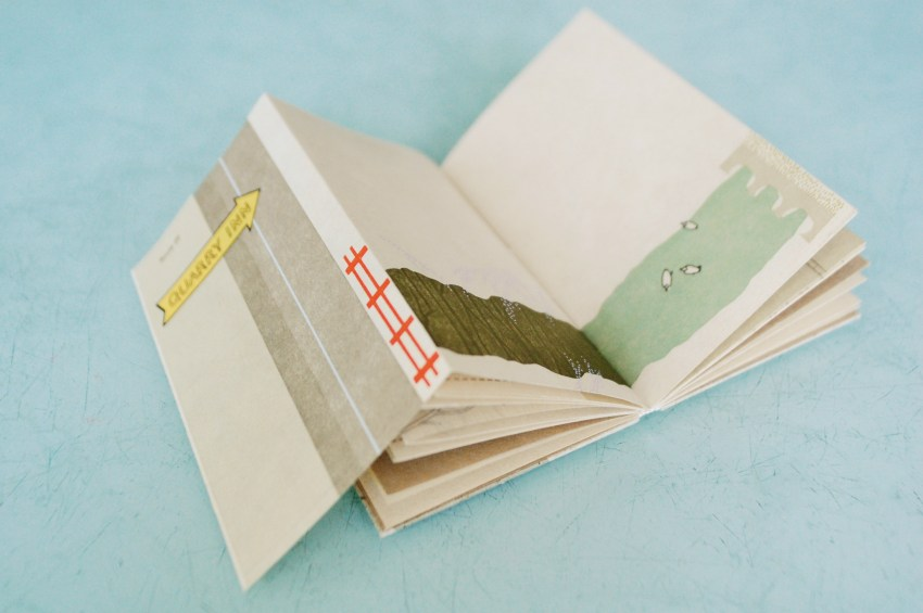Sarah McDermott's artist book Channel & Flow made at WSW on display now at The Center for Book Arts.