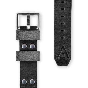 Handmade watch straps front black by WT Author