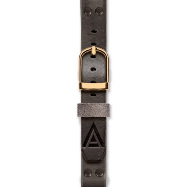 Leather watch strap fastened black by WT Author