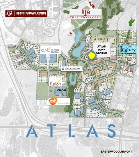 Map of the ATLAS development courtesy of ATLAS.