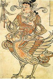 圖為胎藏界曼陀羅大自在天畫像