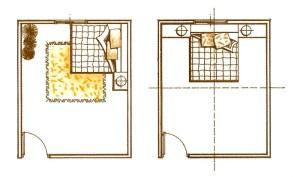 我們臥床上,要可以自然的看見出入的門(臥室的門);床頭與門在同一堵牆或睡時背門而睡,這是不對的方向,背門而睡或床頭開窗,對身體健康會有不好的影響。p1112-a1-02