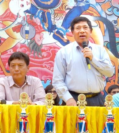 圖為南投縣副縣長陳正昇先生致詞。