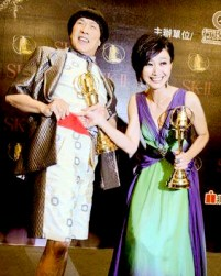 豬哥亮與侯怡君師徒合作主持 奪第45屆金鐘獎綜藝節目主持人獎