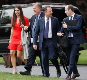白宮顧問希克斯與策略長巴農