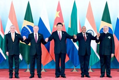 巴西總統特梅爾 俄羅斯總統普丁 習近平主席 南非總統祖馬 印度總理莫迪