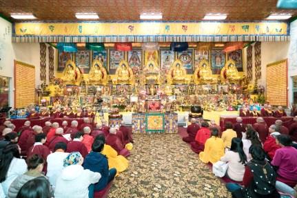 西雅圖雷藏寺同修一景,壇城莊嚴圓滿