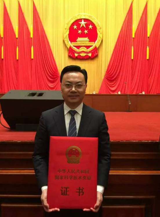 Prof Zhonghua Liu received his second National Science Advancement Award