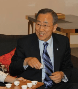 ban ki moon enjoy tea