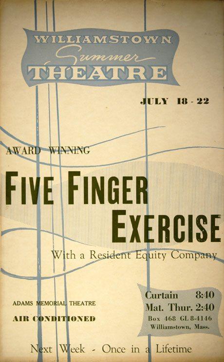 Five Finger Exercise  Williamstown Theatre Festival