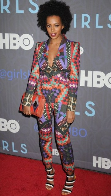 """Solange Knowles arrives for the Season Premiere of HBO's """"GIRLS"""" in NYC"""