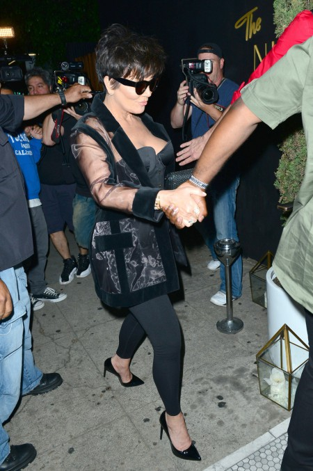 141031, Kris Jenner at Kylie Jenner's 18th birthday celebration at The Nice Guy restaurant in LA. Los Angeles, California - Sunday August 9, 2015. Photograph: © MHD, PacificCoastNews. Los Angeles Office: +1 310.822.0419 sales@pacificcoastnews.com FEE MUST BE AGREED PRIOR TO USAGE