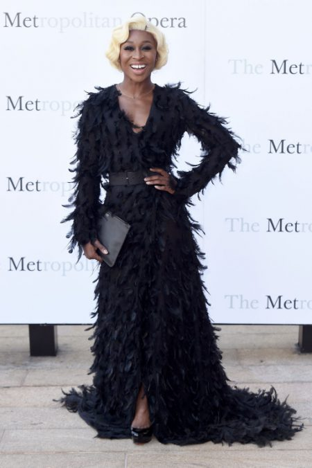 """NEW YORK, NY - SEPTEMBER 26: Cynthia Erivo attends the Met Opera 2016-2017 Season Opening Performance of """"Tristan Und Isolde"""" at The Metropolitan Opera House on September 26, 2016 in New York City. (Photo by Nicholas Hunt/Getty Images)"""