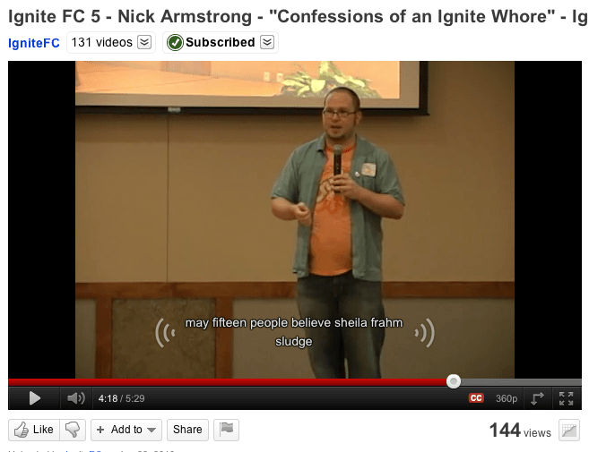 Nick at Ignite Fort Collins
