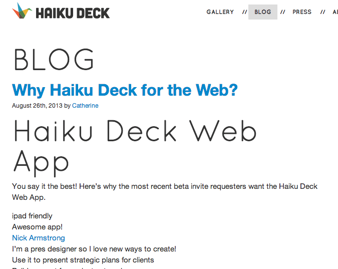 Haiku Deck - Why Use The Web Tool?