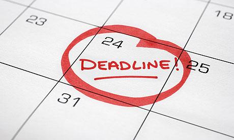 Blog Post deadline