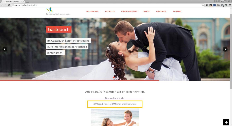 Hochzeitshomepage  Tipps zur Erstellung  Homepage