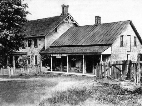 John P. Sharp built this stone home in 1828 on property he inherited from his father, John Sharpenstein. It served as a general store and also the post office for Drakestown until 1911.