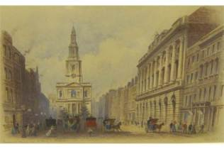 Somerset House and St Mary Le Strand, Edwin Dolby 1893