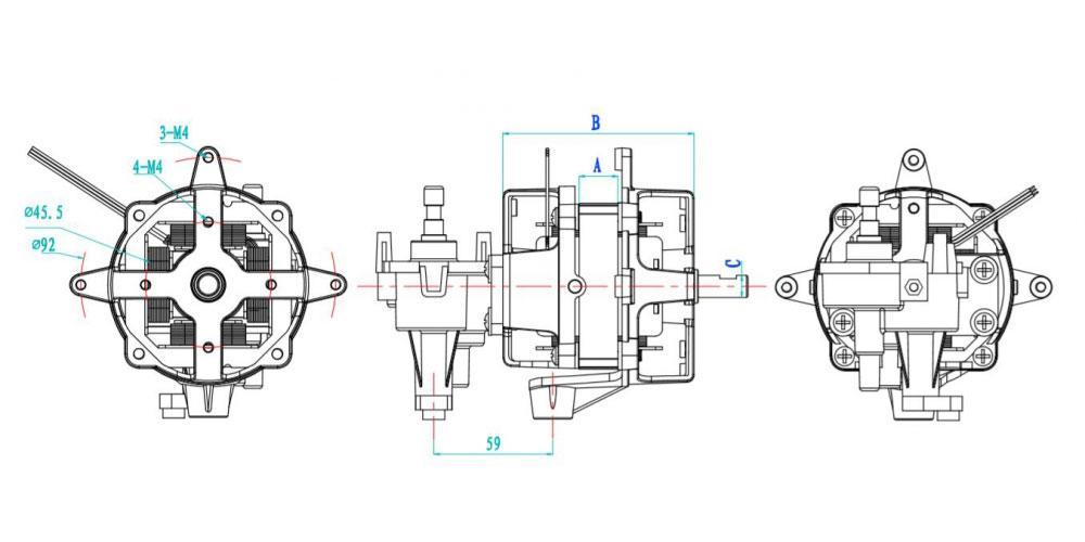 Capacitor Start Single Phase Induction Motor, YY60 Series