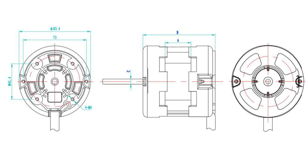 Capacitor Start Single Phase Induction Motor, YY80 Series
