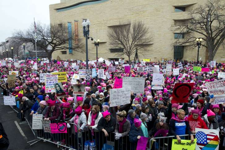Image result for images of protests on Jan. 21, 2017