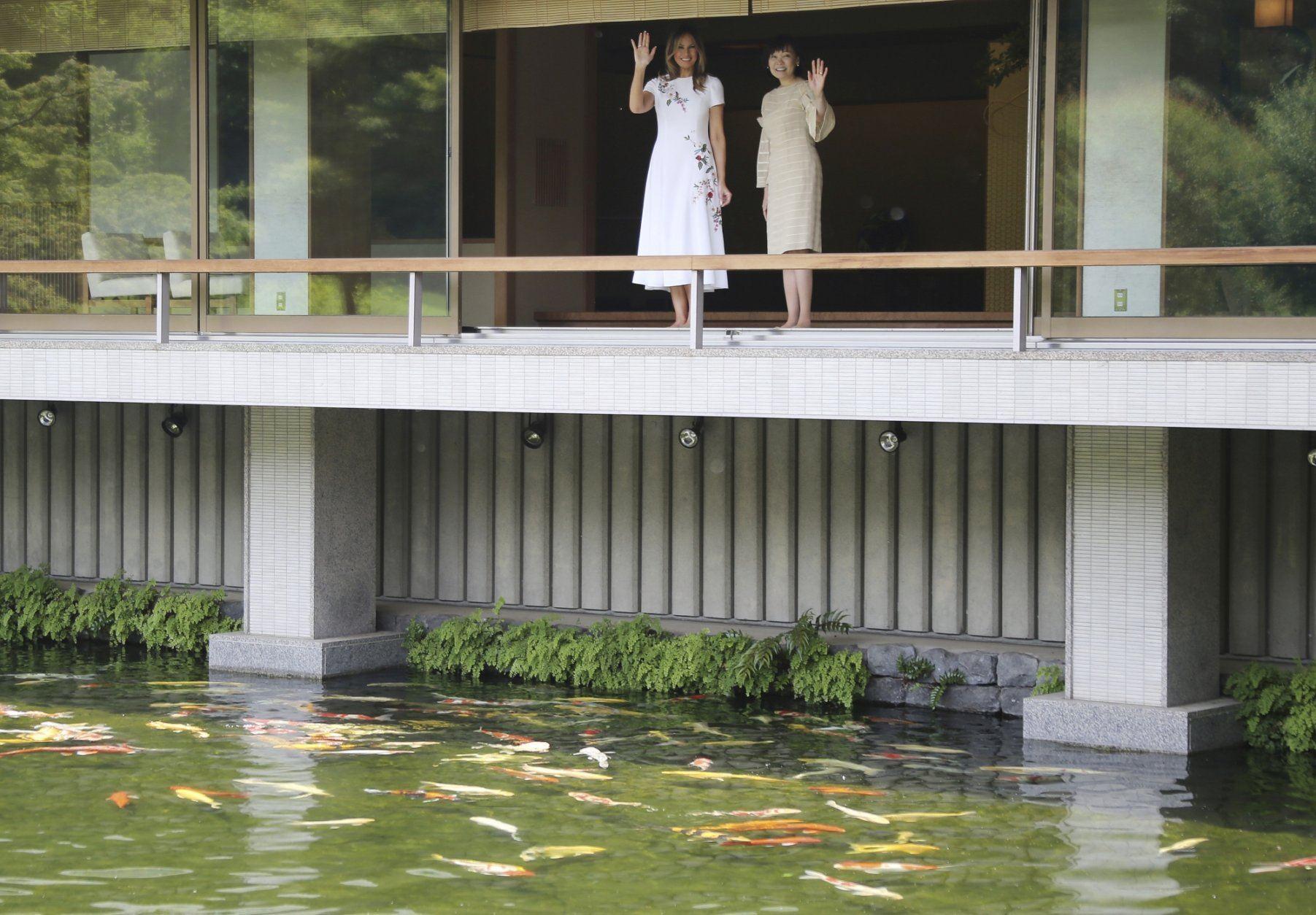 Melania Trump Enjoys Nature Themed Japan Cultural Experience