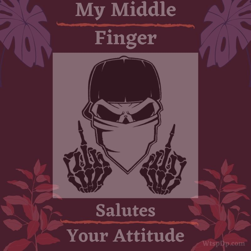 Middle finger attitude image download
