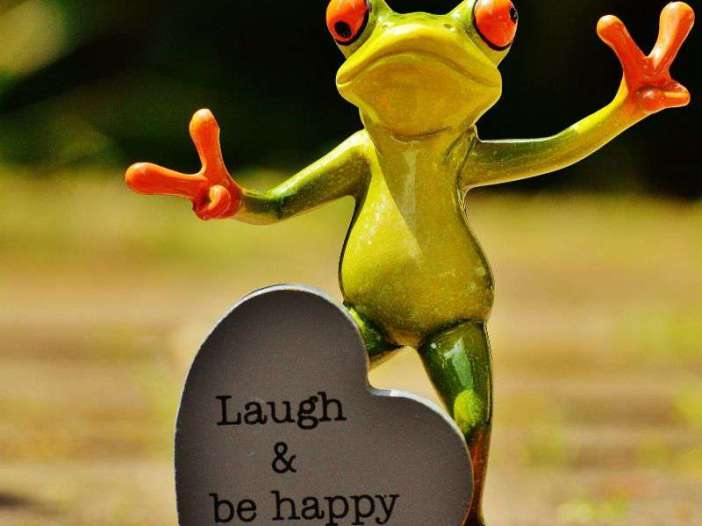 Laugh and be happy whatsapp dp image