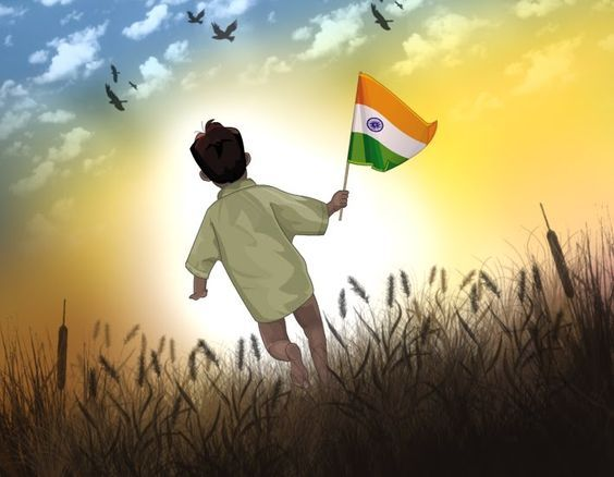Little boy with Indian flag image download for whatsapp dp