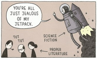 Popular Literature Genrification Article Words To That Effect(Tom-Gauld-Jetpack)
