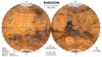 map of barsoom (c) ERBzine 5111