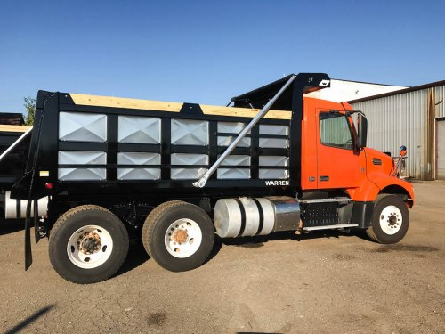 small resolution of this tandem axle volvo tractor was converted to a dump truck by warren truck trailer inc in birmingham al this frame type msfl series dump body