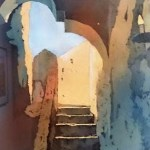 Mission Concepcion Stairway_ by Nathalie Kelley