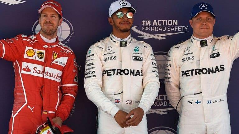 Hamilton takes pole, Vettel Second, BOttas third, Kimi Fourth.