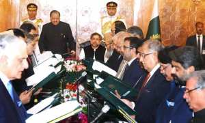 Pakistan's New cabinet takes shape are the departure of Nawaz Sharif