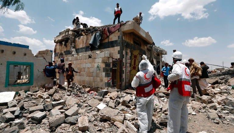 Airstrike in Yemen kills dozens at hotel