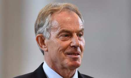 The former Primes Minister Tony Blair