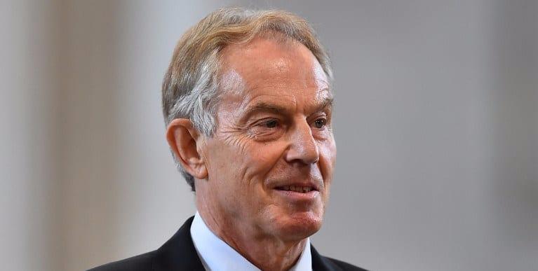 The former Primes Minister Tony Blair
