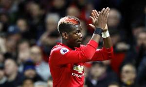 Paul Pogba against Newcastle in the premier league