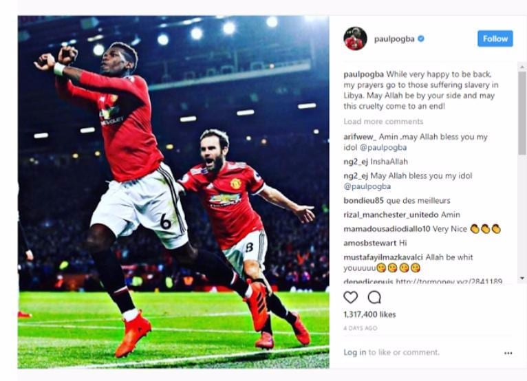 Paul Pogba the Man united football superstar