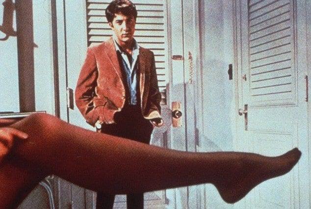 Dustin Hoffman with his timid defining look in 'The Graduate (1967)