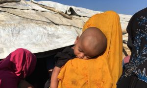 I sit on the Bangladesh-Myanmar border where 670,000 Rohingya Muslims are living in a vast makeshift city.