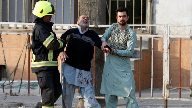 Kabul Ambulance Bomb as civilians join the rescue efforts